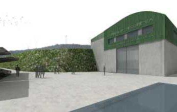 hangar  proyecto central hidroeléctrica Mequinenza