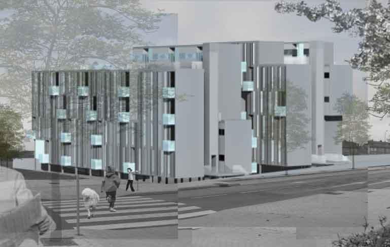 concurso viviendas en barajas fachada frontal