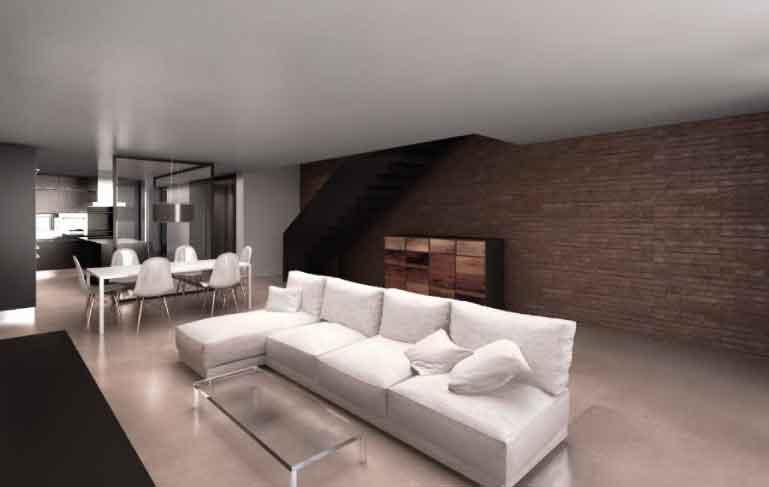 reforma vivienda cornella sofa salón