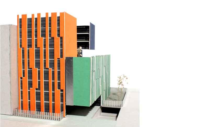 concurso 84 viviendas en barajas fachada frontal