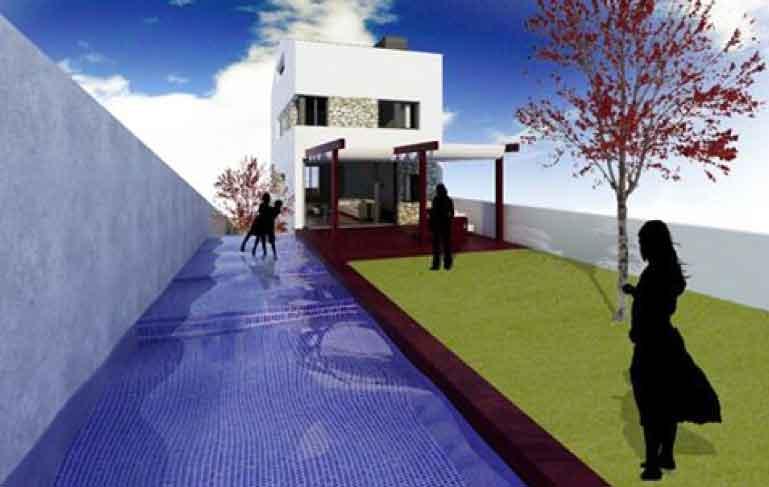 vivienda Tarrega patio y piscina